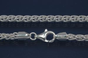 Spike Chain Necklace solid approx. Ø4,3mm with trigger clasp, 925/- Silver